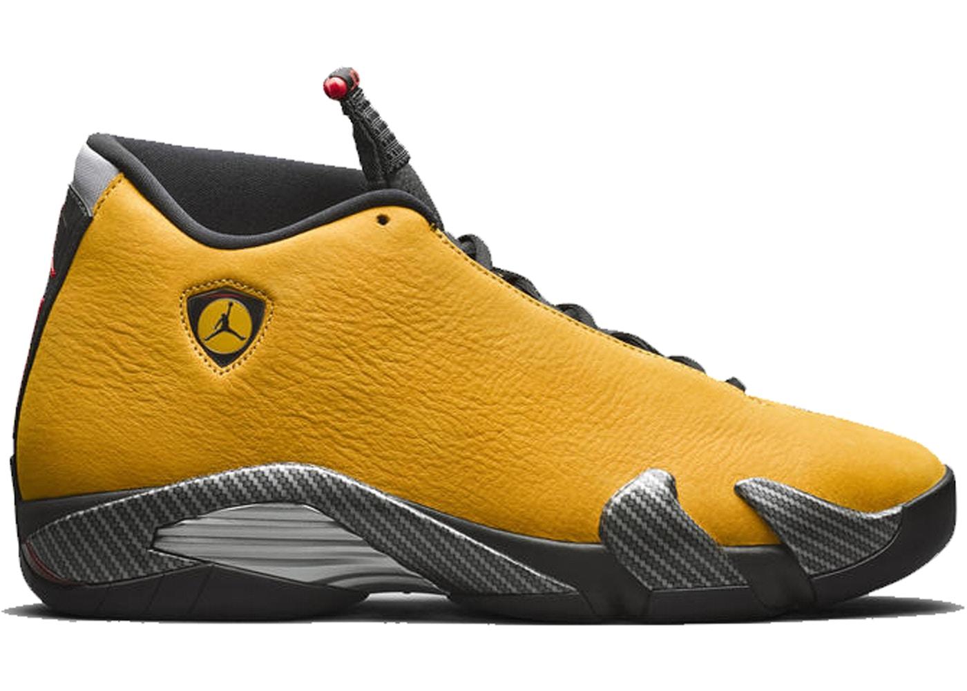 premium selection a4b99 267d3 Jordan 14 Retro Ferrari University Gold • Buy/Sell StockX