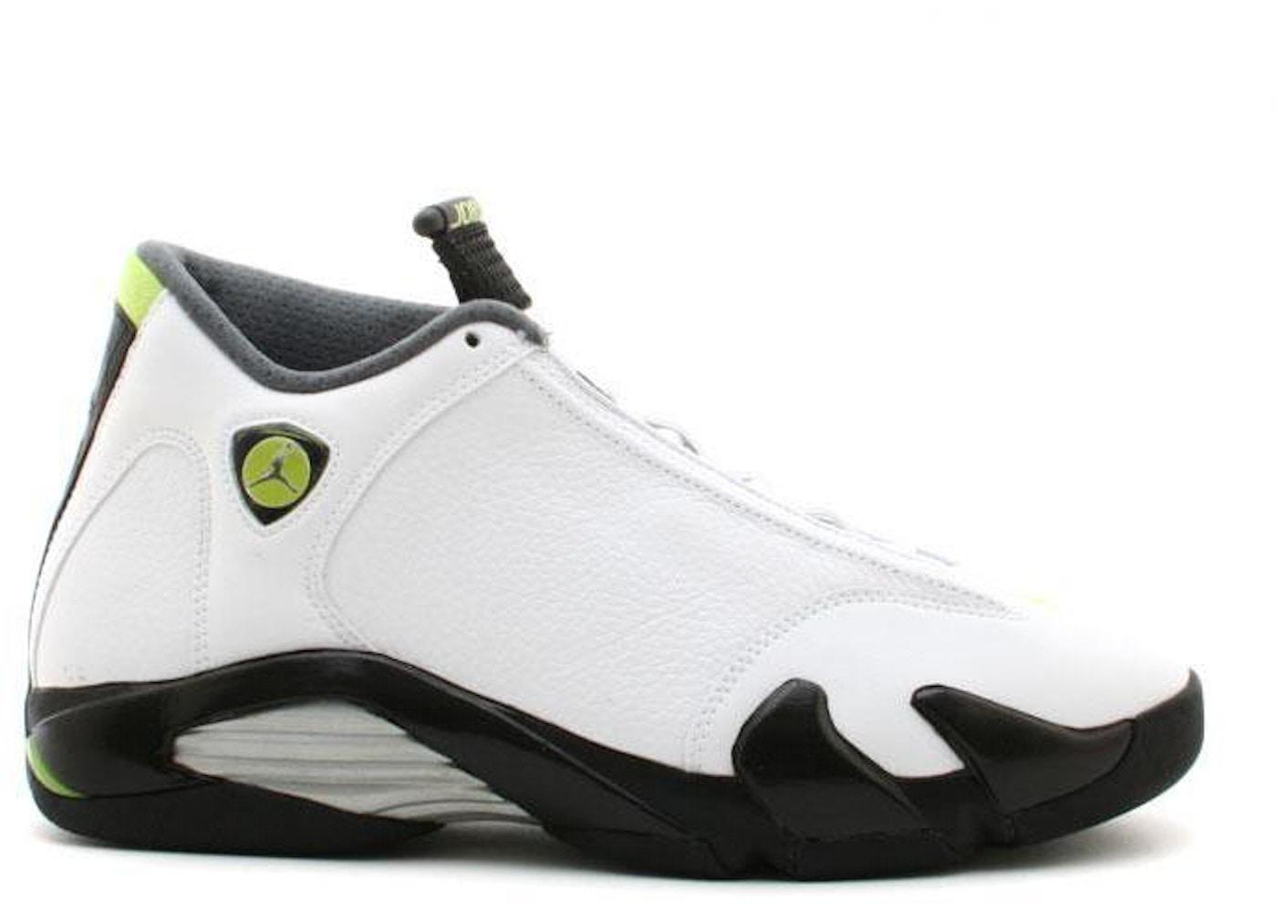 san francisco 10d0c 9c6e2 Jordan 14 Retro White Chartreuse