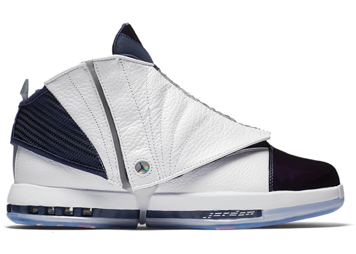 Nike Air Jordan 16 Retro White/Midnight Navy Size Men'S 9 [683075-106] - B7349