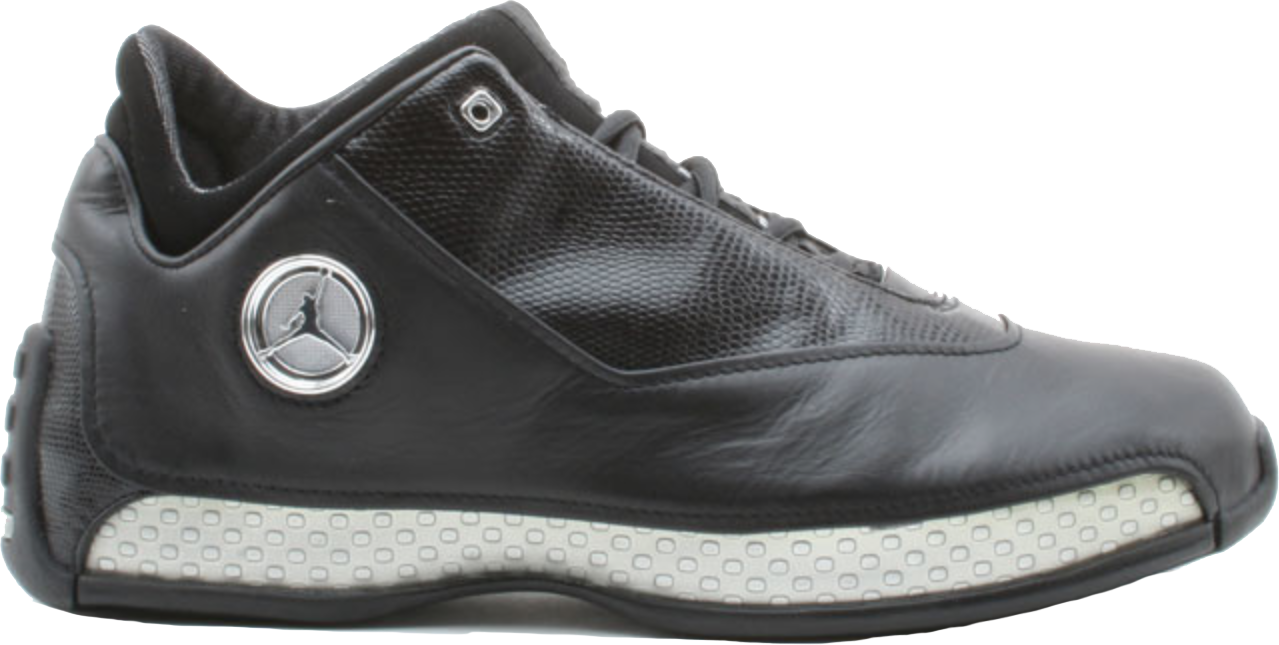 Jordan 18 OG Low Black Silver Chrome