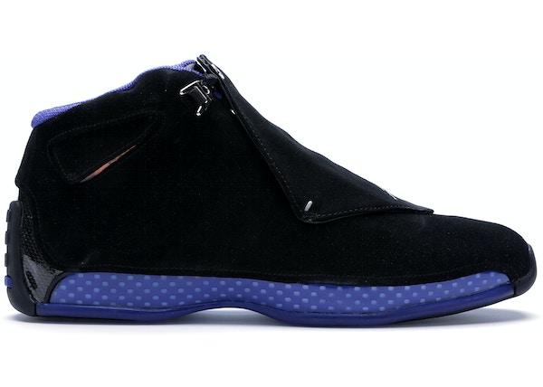 sports shoes 4055f 3b830 Jordan 18 Retro Black Sport Royal - AA2494-007