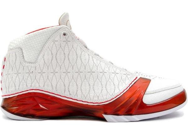 Jordan 23 White Varsity Red