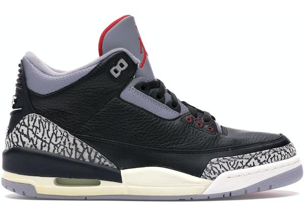 free shipping 87f74 ab537 Jordan 3 Retro Black Cement (2001) - 136064-001