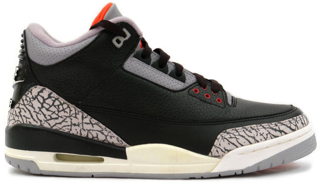 ... Jordan 3 Retro Black Cement (2001) ...