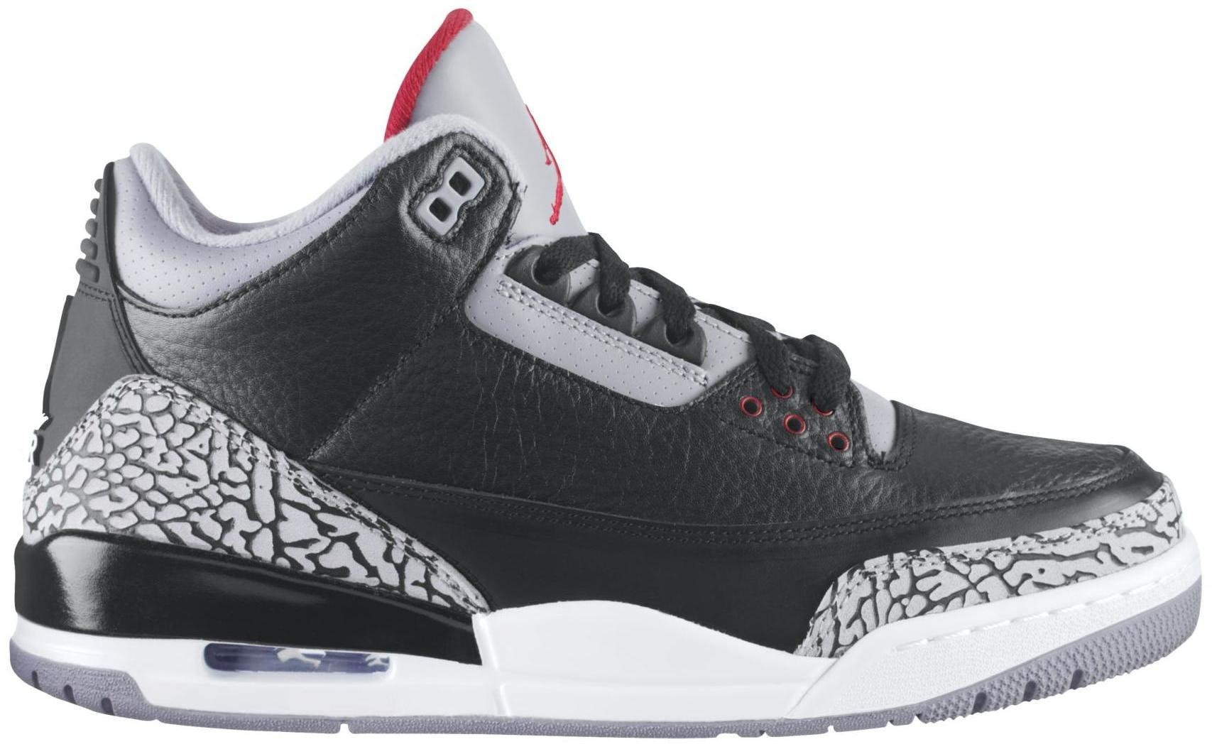 a35057b7d1c jordan flight 23 black red cement Air Jordan 3 Retro ...