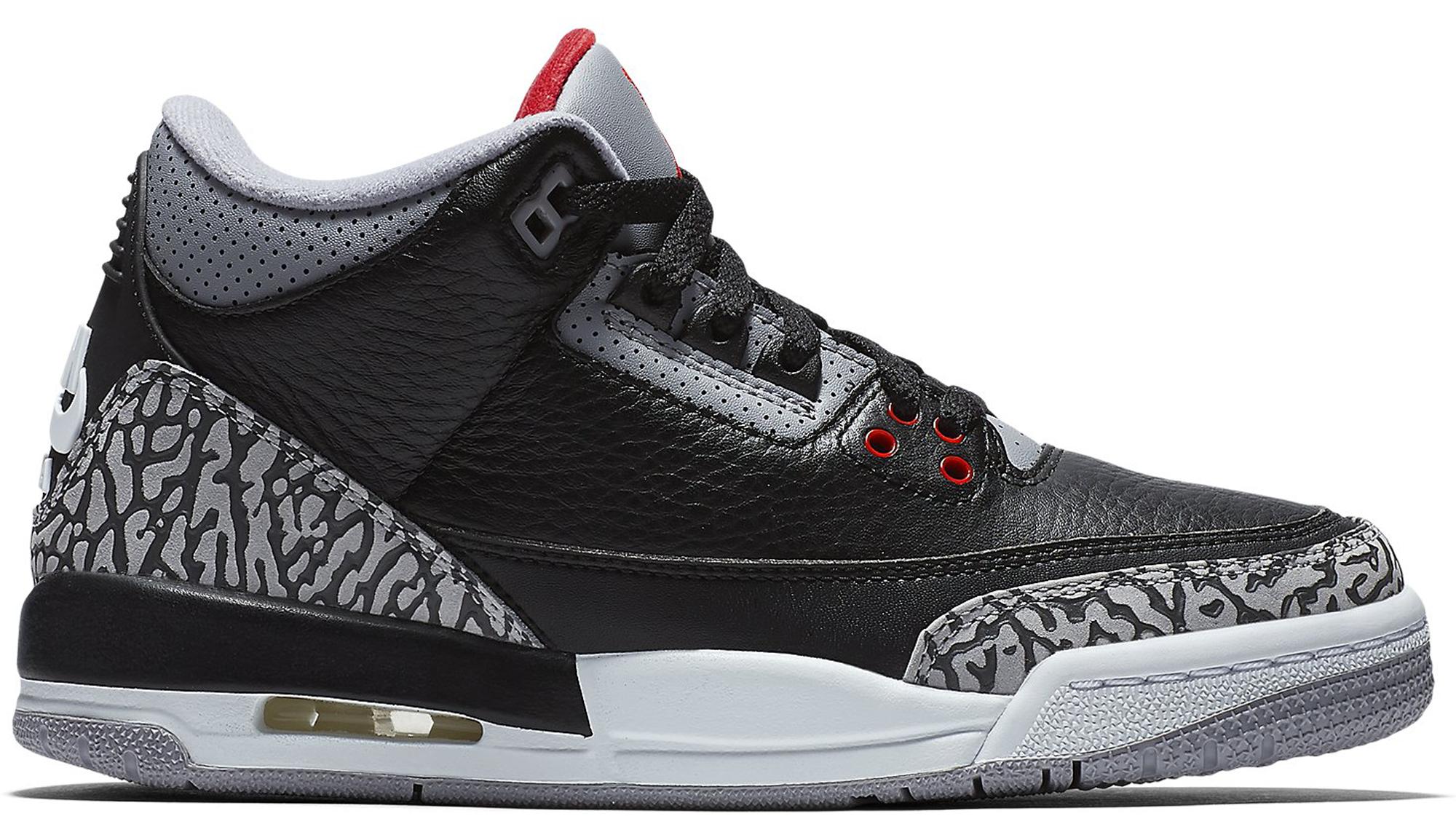huge discount cc256 f2592 air jordan retro 3 shoes in black cement Nike ...