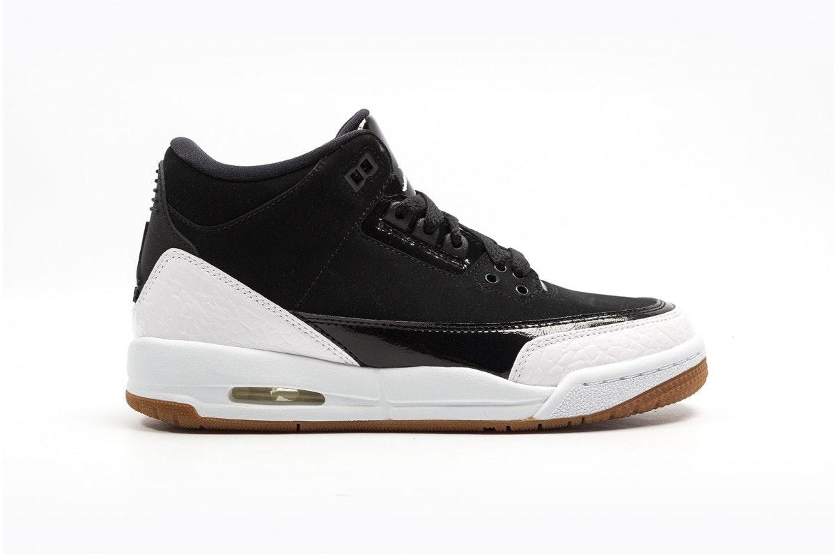 Jordan 3 Retro Black White Gum (GS)