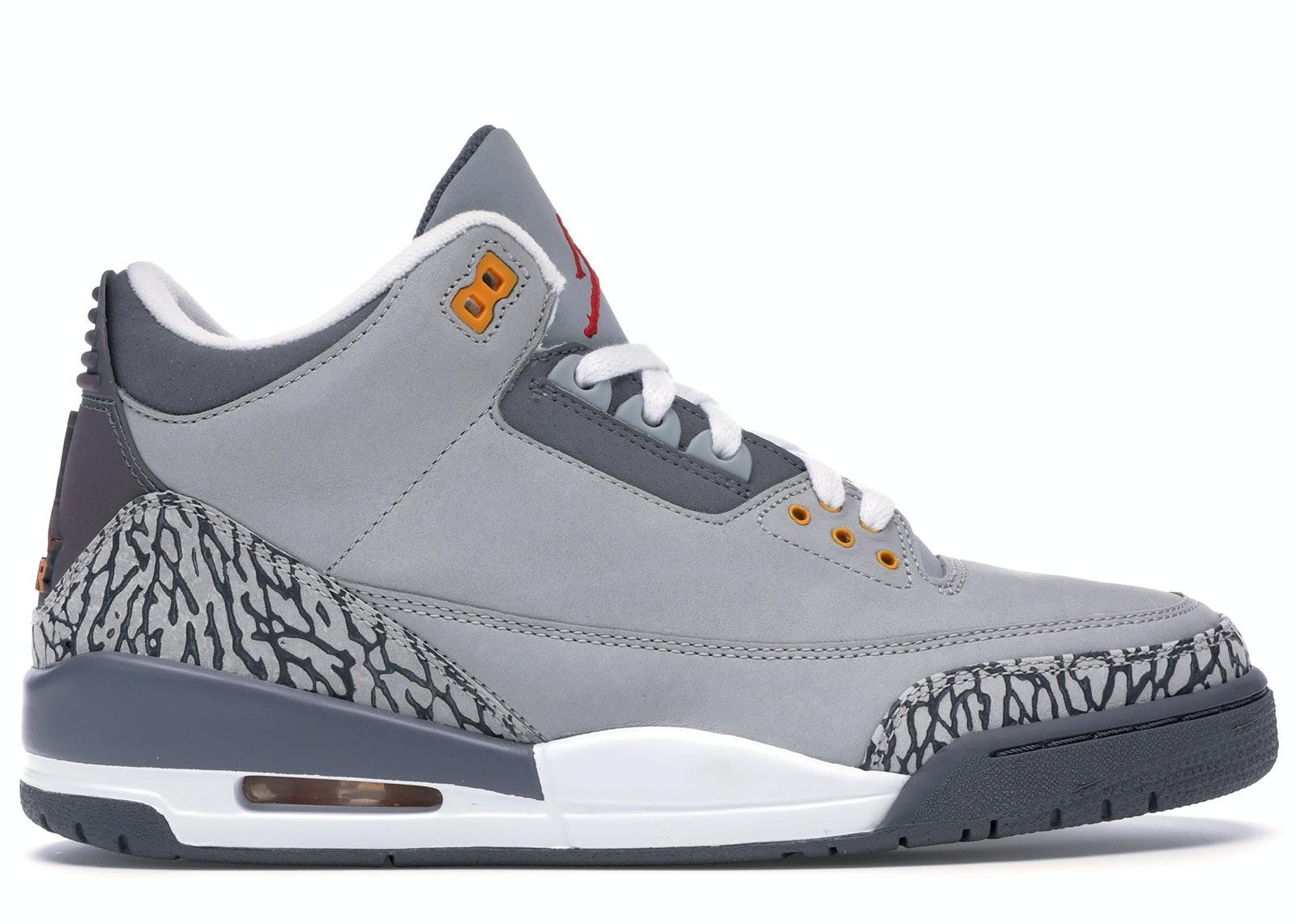 jordan retro 3 grey