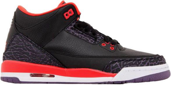Jordan 3 Retro Crimson (GS) - 398614-005