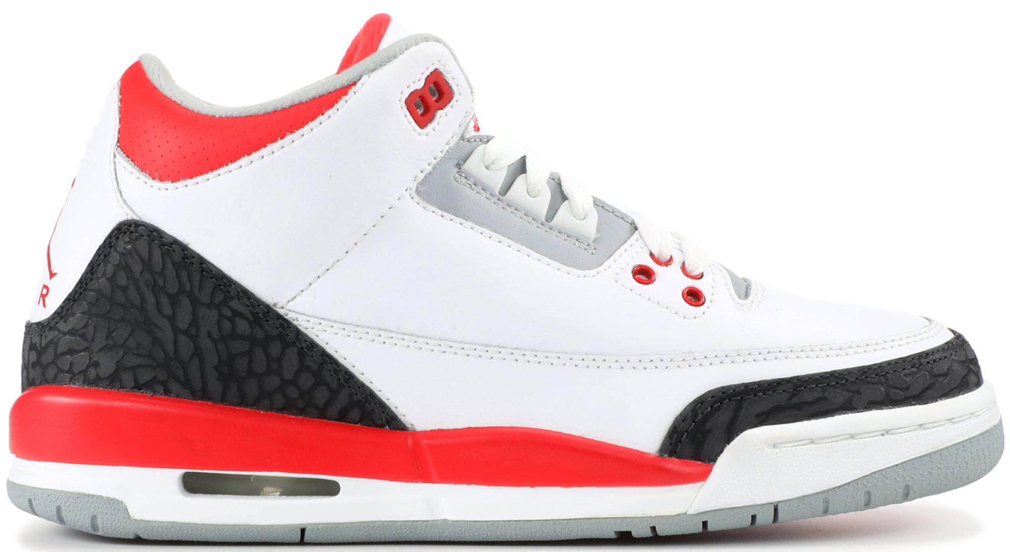 Jordan 3 Retro Fire Red 2007 (GS