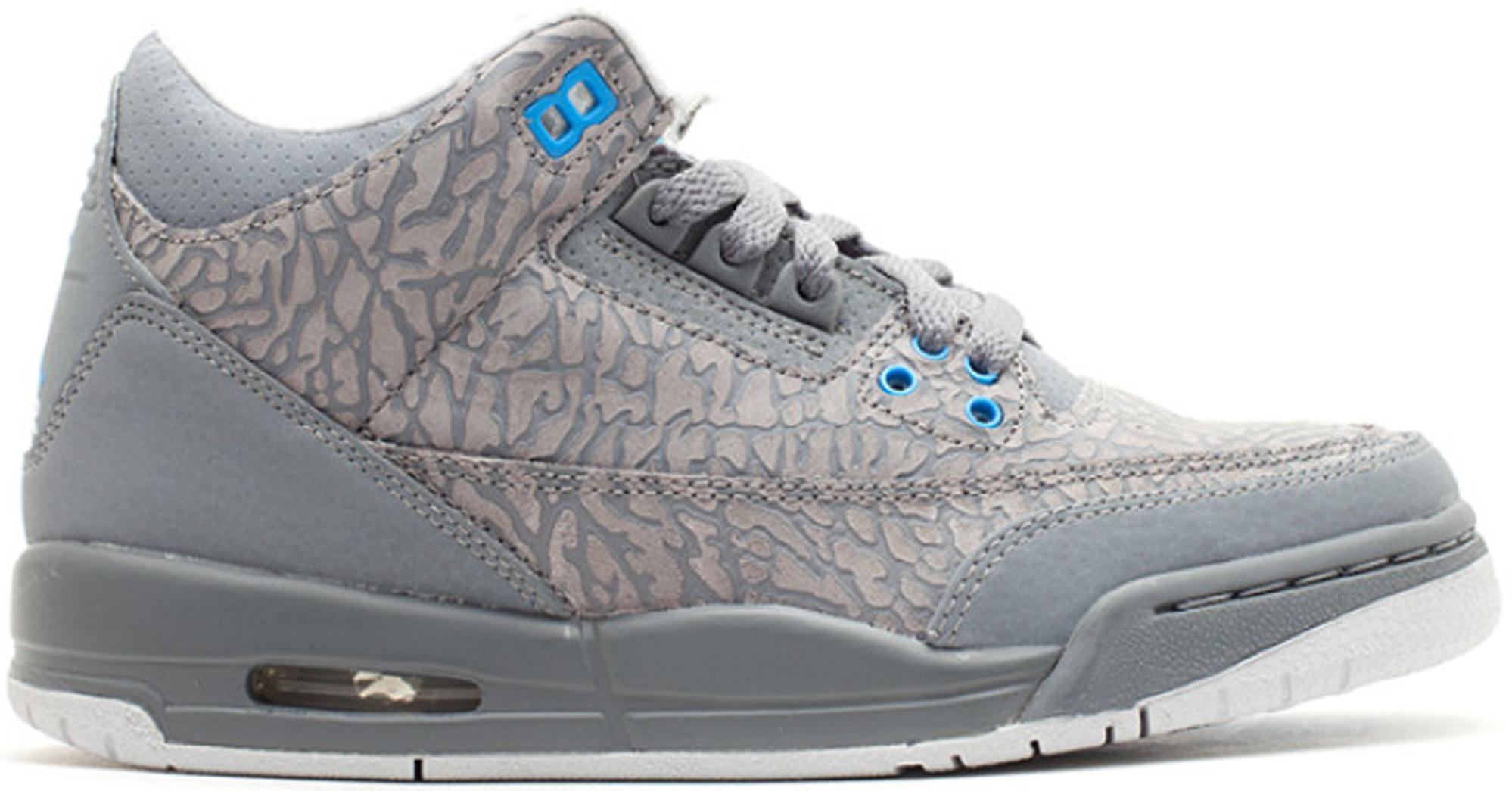 Jordan 3 Retro Flip Cool Grey Blue Glow