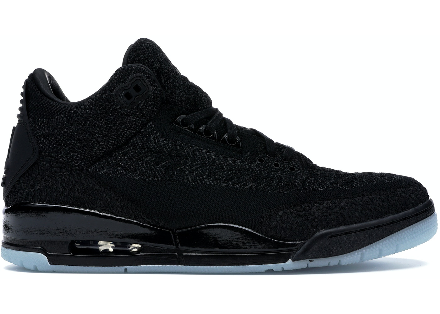 check out 789f8 56a38 Jordan 3 Retro Flyknit Black - AQ1005-001