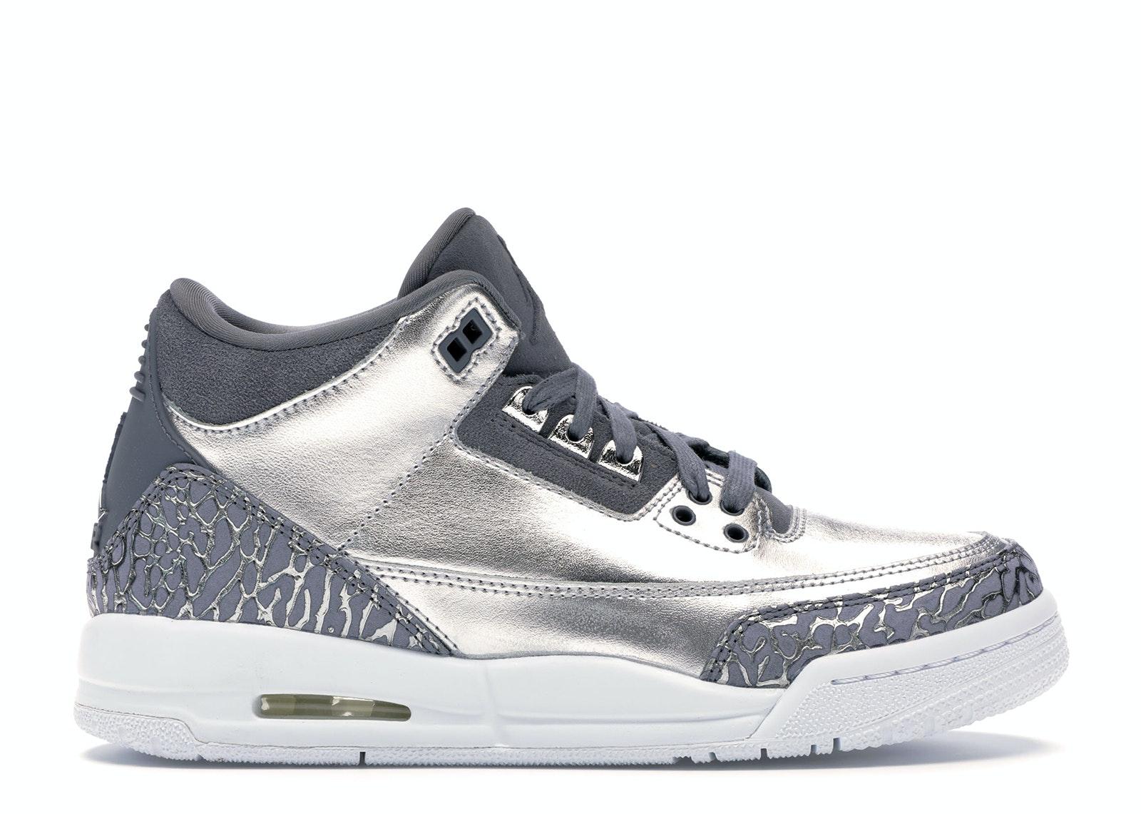Jordan 3 Retro Premium Heiress Metallic Silver (GS)