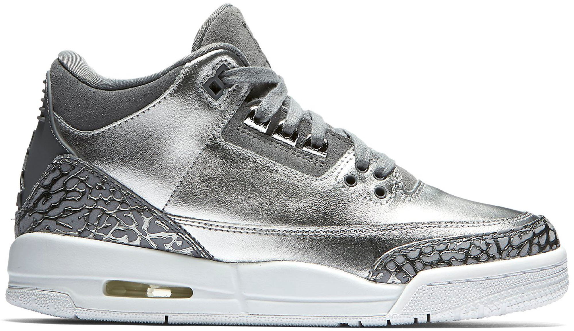 Jordan 3 Retro Premium Heiress Metallic Silver (GS)