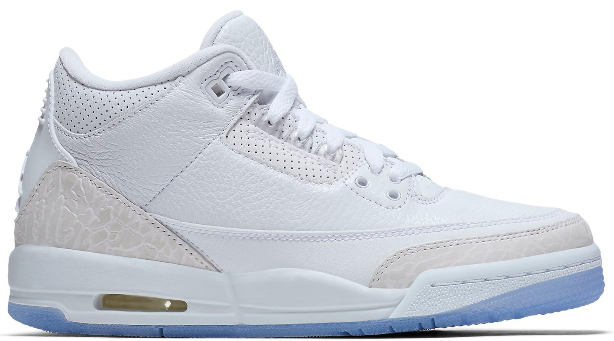 Jordan 3 Retro Pure White 2018 (GS