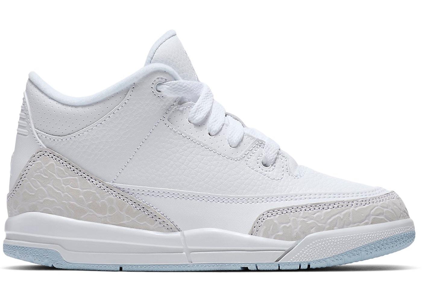 torta abortire solco  Jordan 3 Retro Pure White 2018 (PS) - 429487-111
