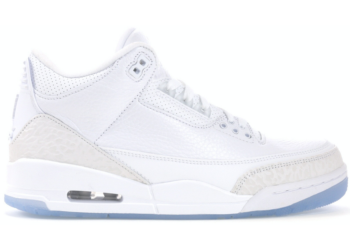 182311b95db5 Jordan 3 Retro Pure White (2018) - 136064-111