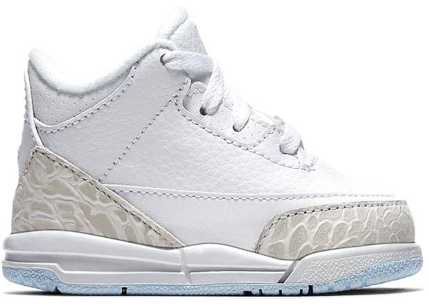 buy online 6f314 699b9 Jordan 3 Retro Pure White 2018 (TD) - 832033-111