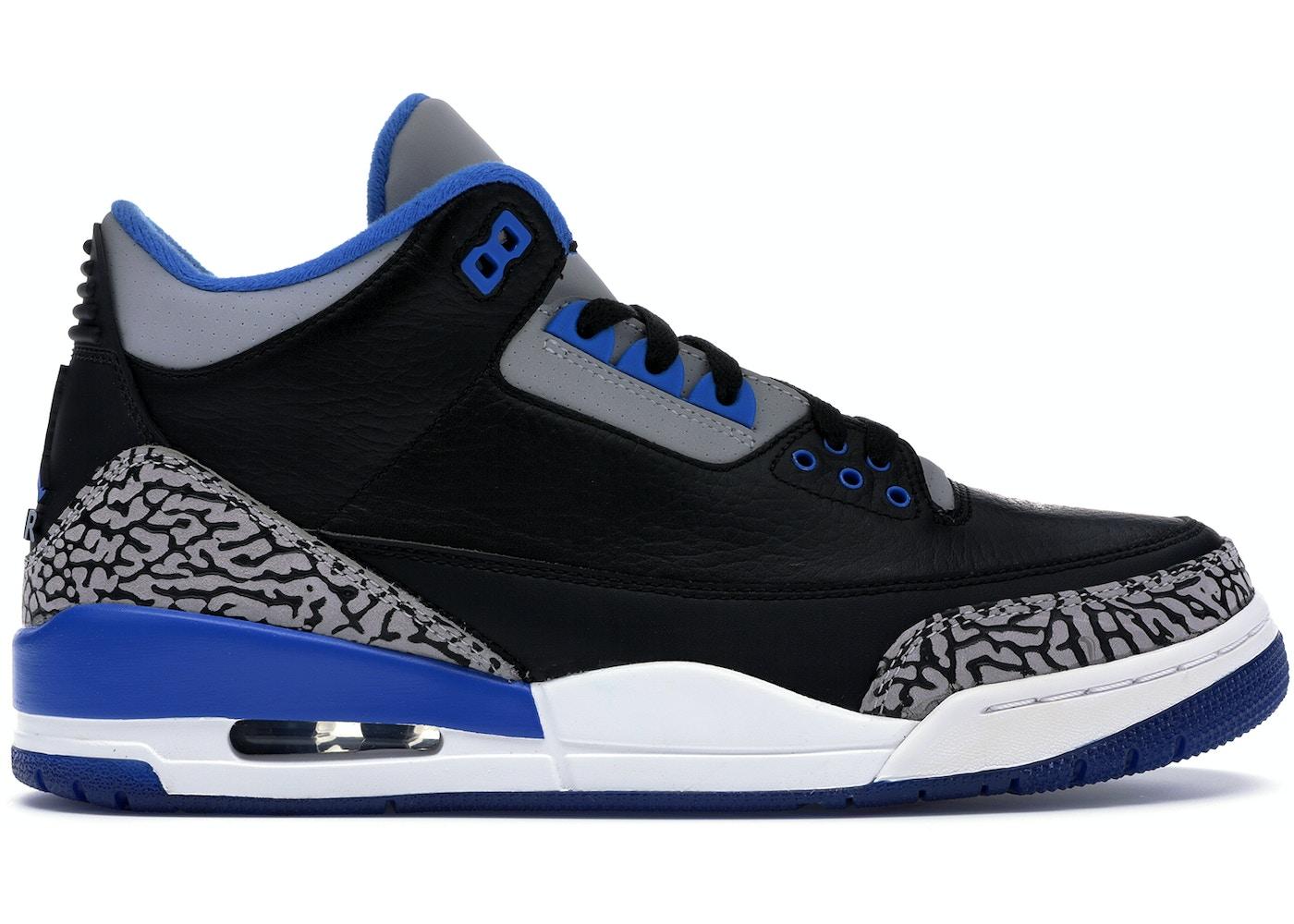 buy popular 8a37a c054f Jordan 3 Retro Sport Blue - 136064-007