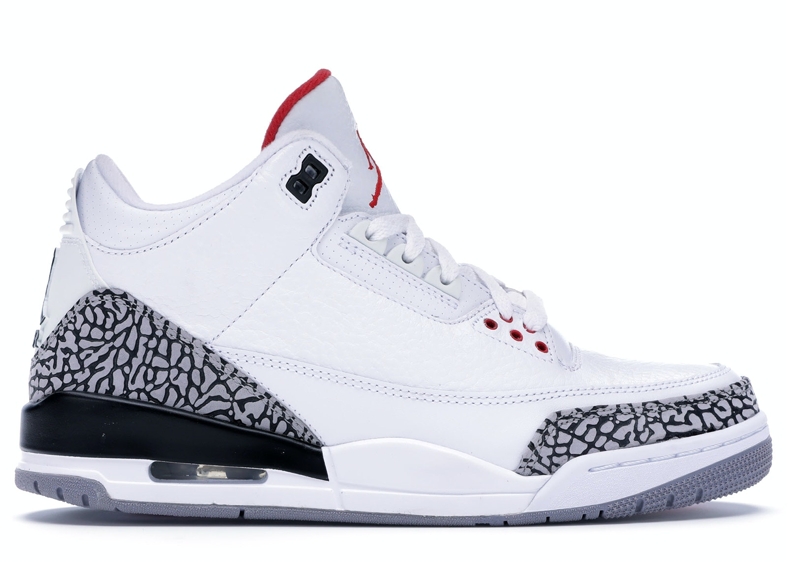 all white jordan 3