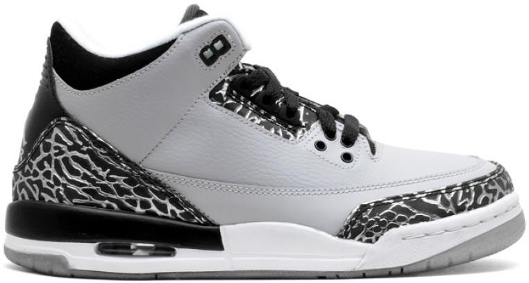 Jordan 3 Retro Wolf Grey (GS) - 398614-004