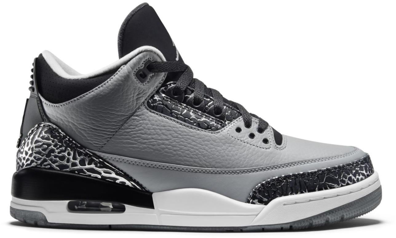 Authentic Air Jordan 3 Wolf Grey shoes online hot sale