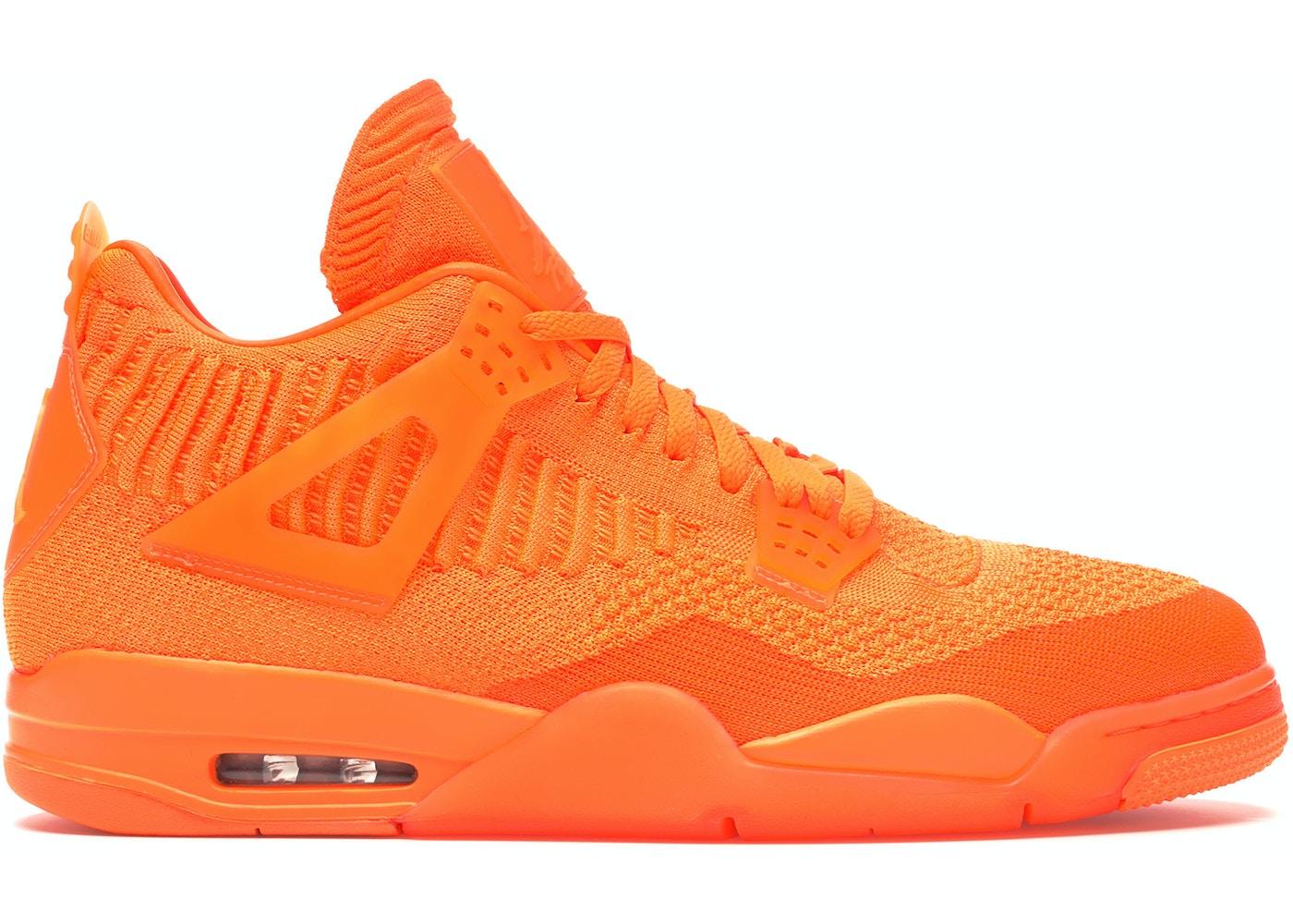 new product 1db0b 0008d Jordan 4 Retro Flyknit Orange