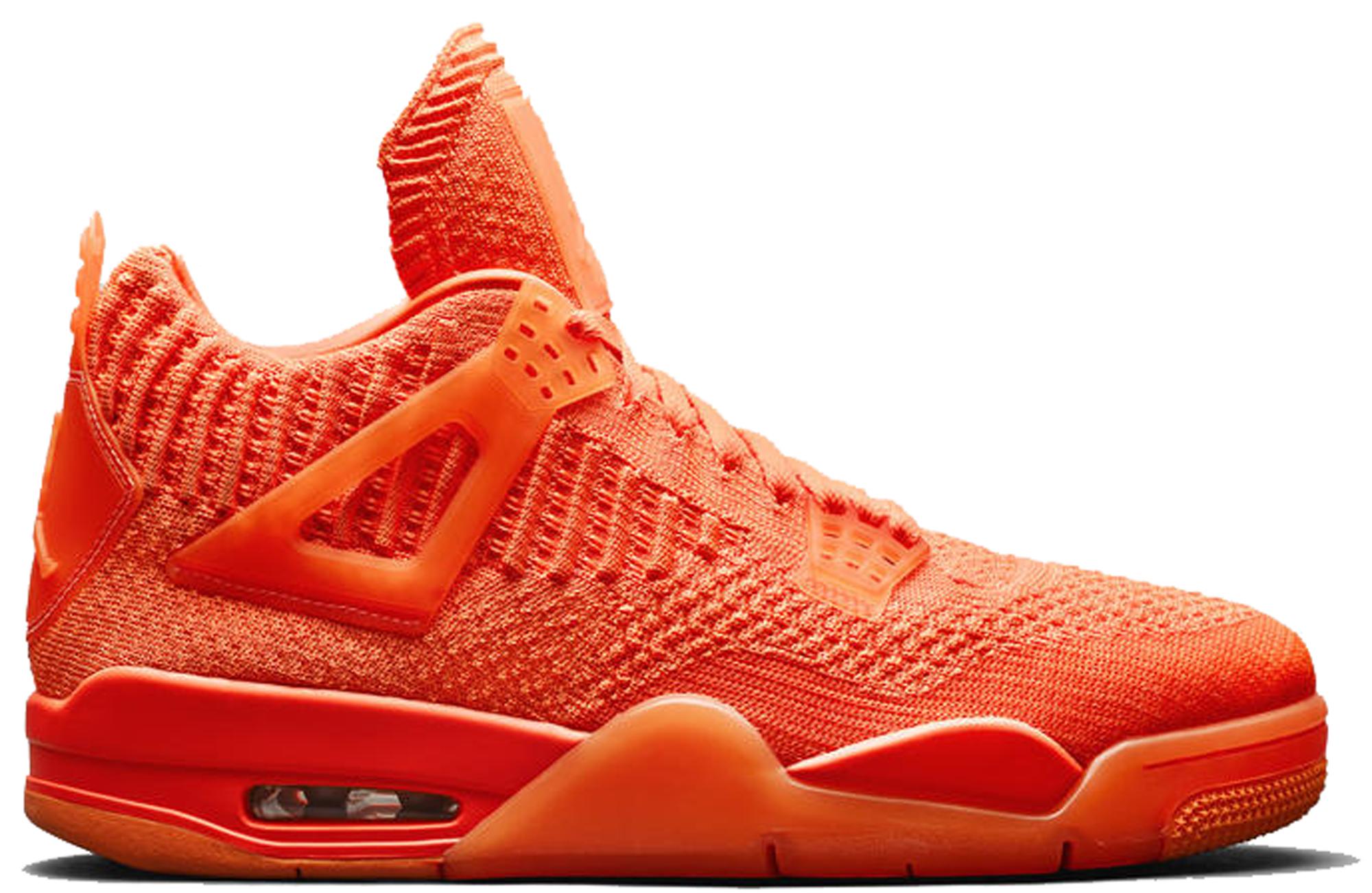 Jordan 4 Retro Flyknit Orange • Buy