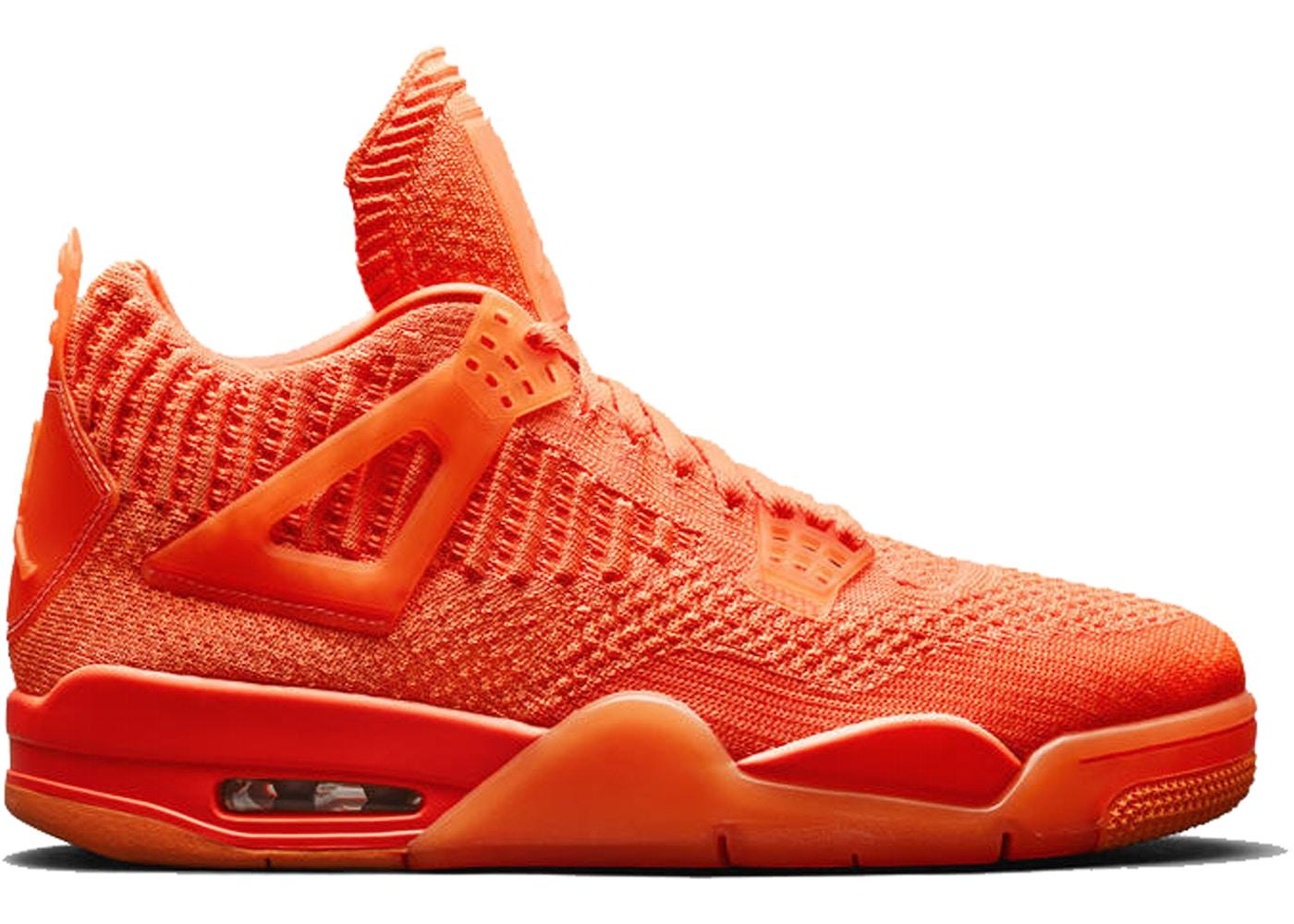 online store b136c 58928 Jordan 4 Retro Flyknit Orange - AQ3559-800