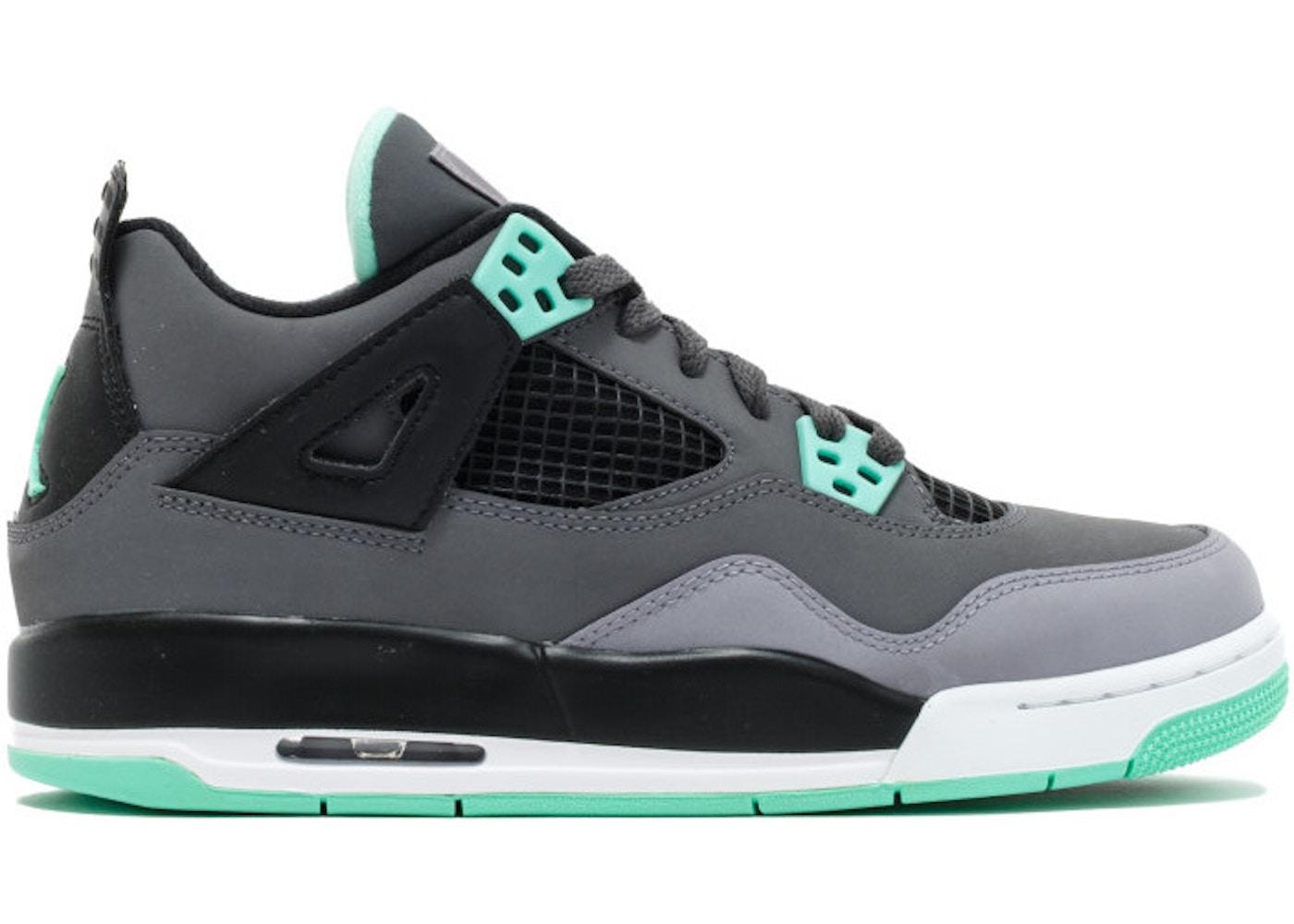 newest 07ca7 93618 Jordan 4 Retro Green Glow (GS) - 408452-033