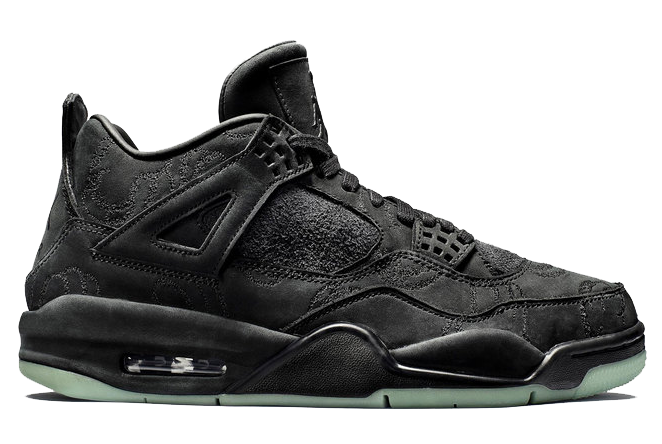 air jordan retro 4 black kaws 4