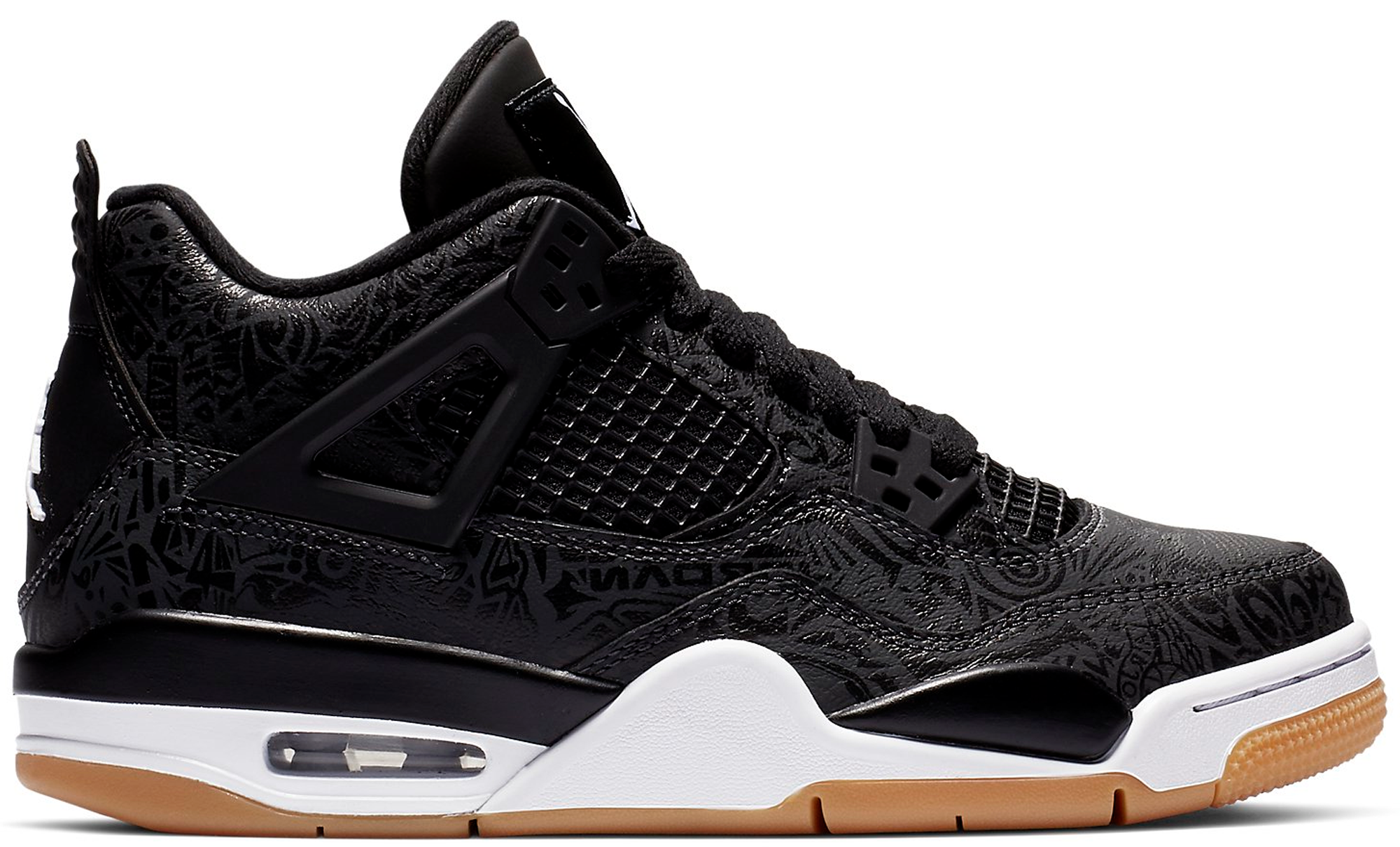 Jordan 4 Retro Laser Black Gum (GS)