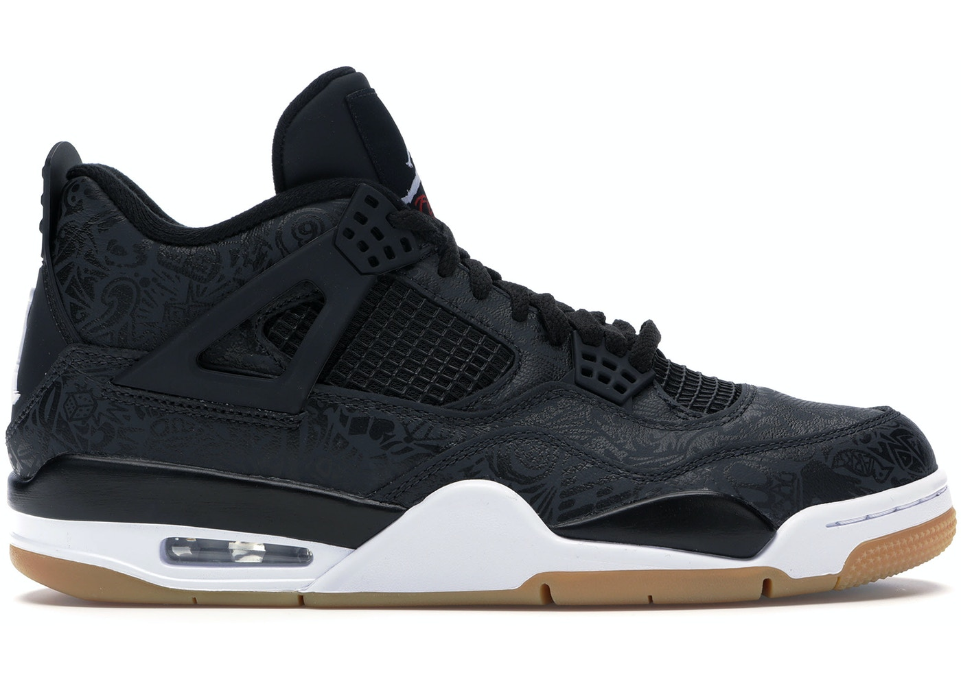 huge discount 23d10 69c44 Jordan 4 Retro Laser Black Gum - CI1184-001