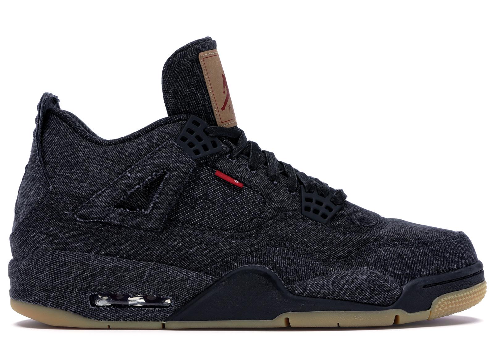 Jordan 4 Retro Levi's Black (Blank Tag