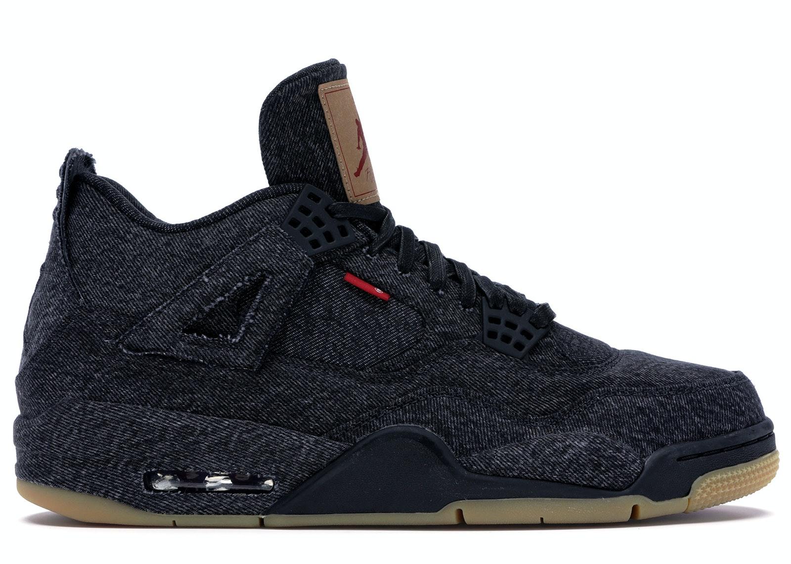 Jordan 4 Retro Levi's Black (Blank Tag)