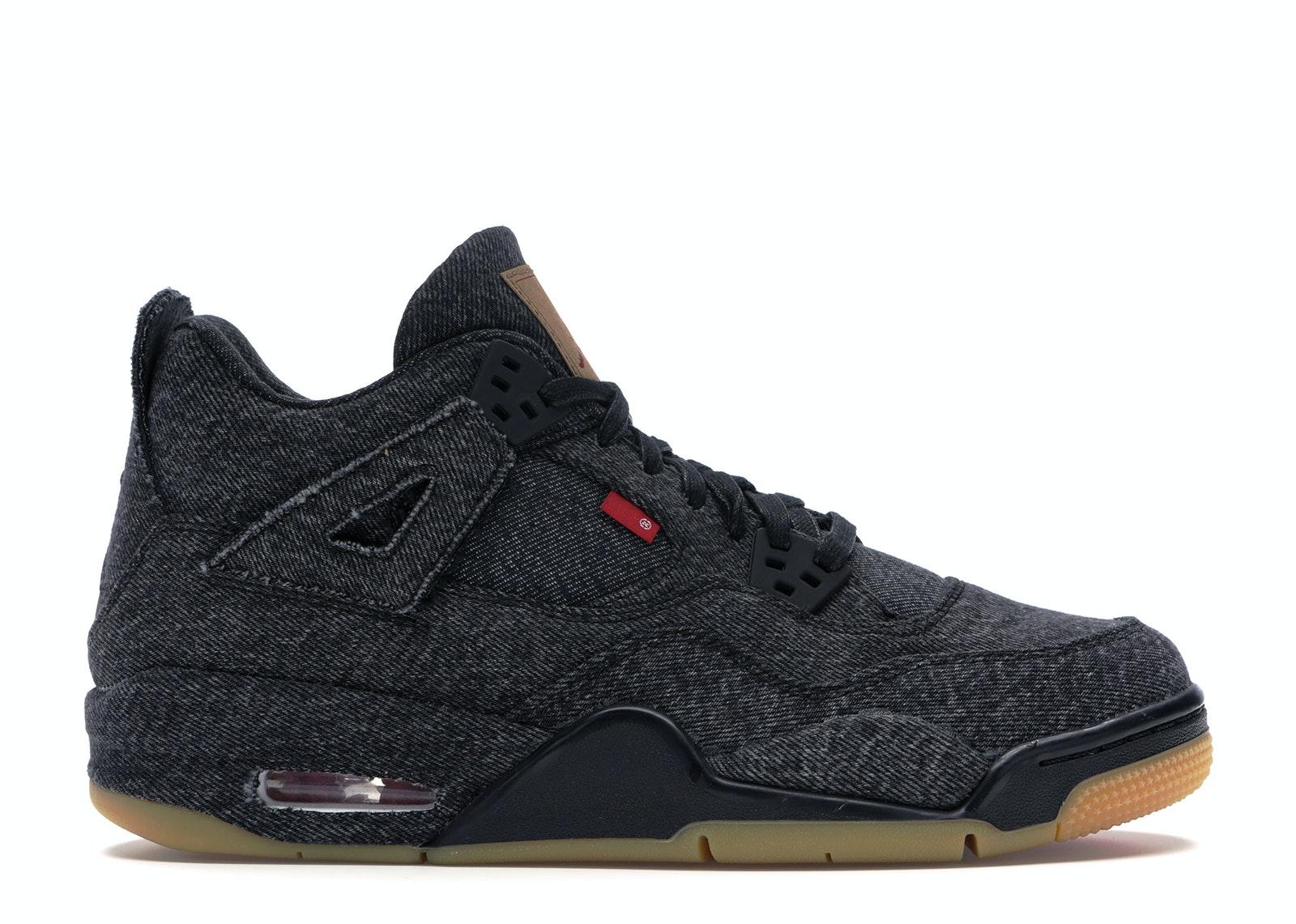 Jordan 4 Retro Levi's Black (GS) (Blank Tag)
