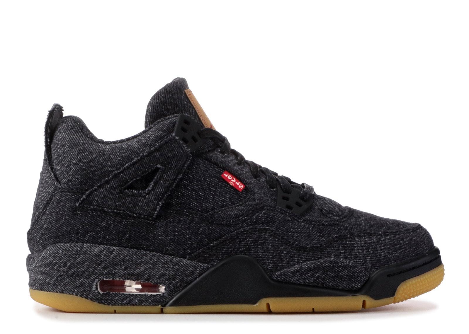 Jordan 4 Retro Levi's Black (GS) (Levi's Tag)