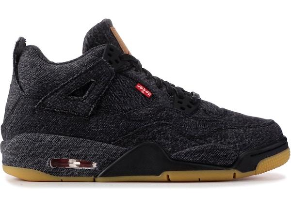 ea22a9440f31 Jordan 4 Retro Levi s Black (GS) (Levi s Tag) - AQ9103-001