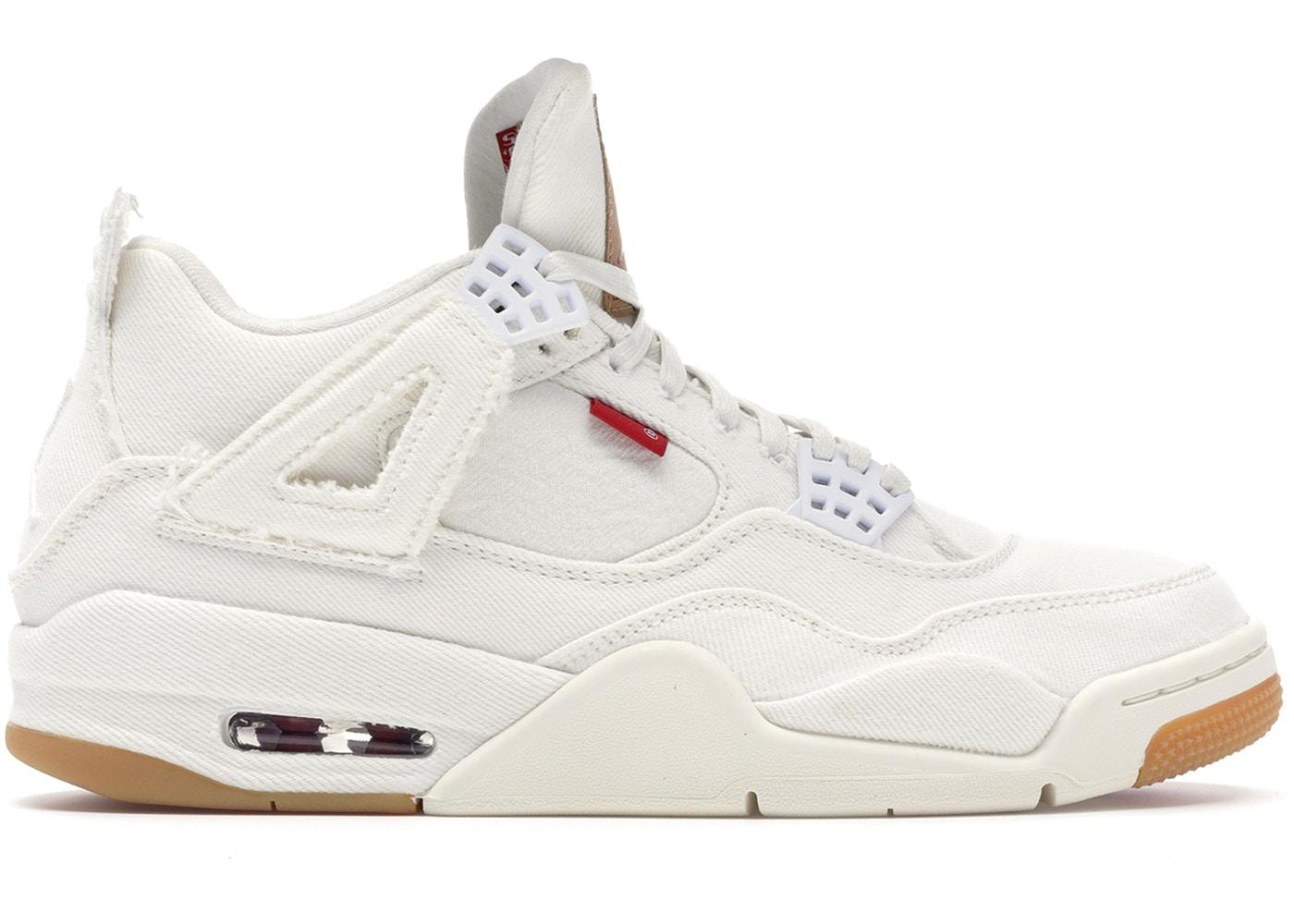 cheaper 0aa5d 49242 Jordan 4 Retro Levi's White (Blank Tag)