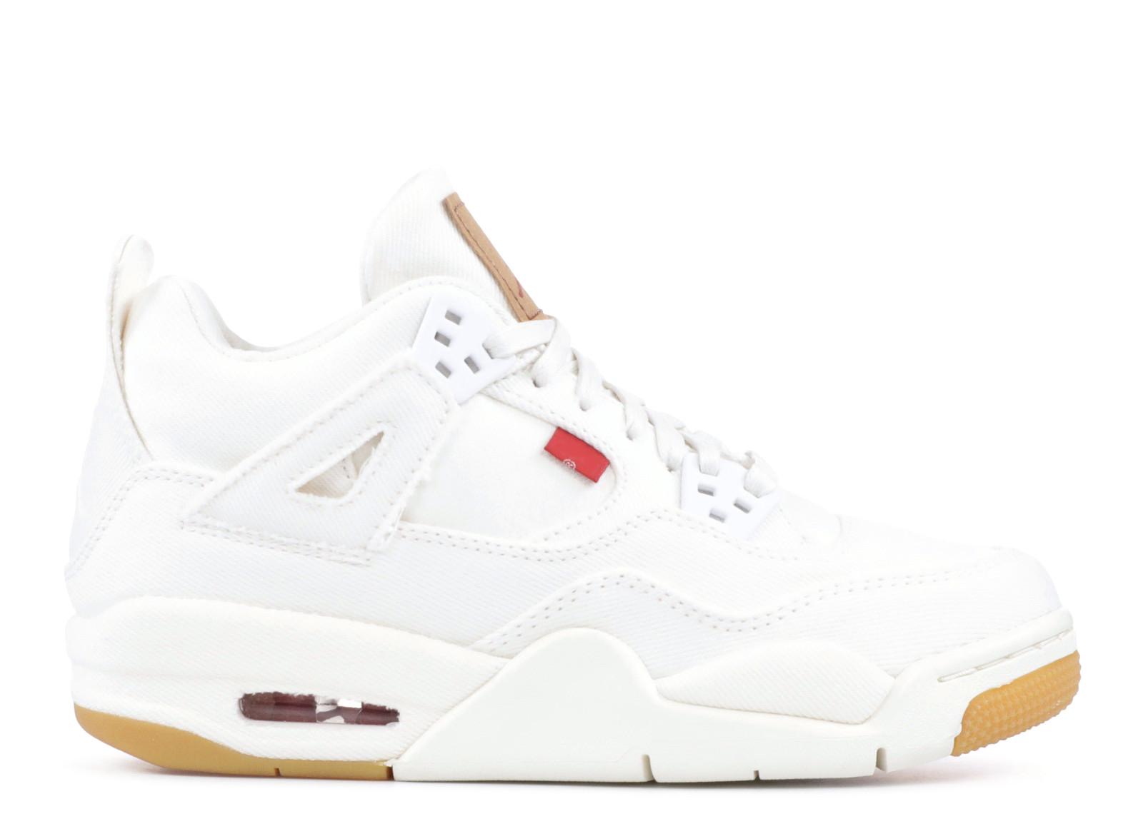 Jordan 4 Retro Levi's White (GS) (Blank Tag)