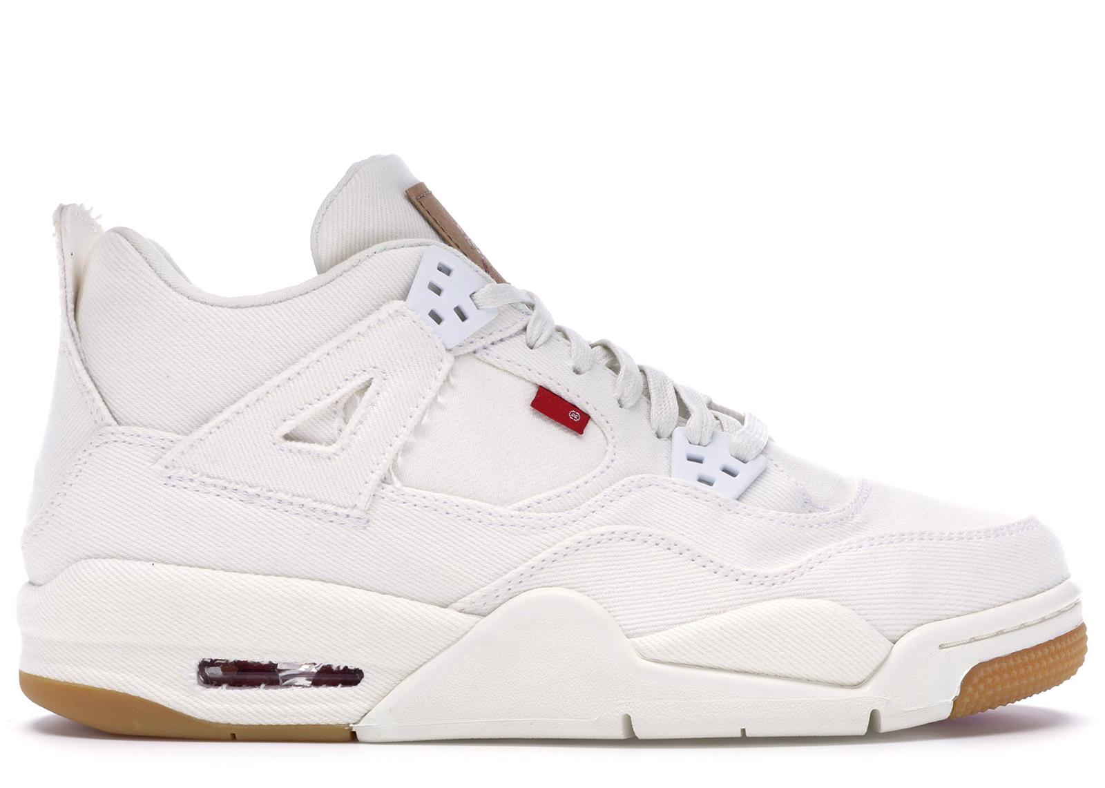 Jordan 4 Retro Levi's White (GS) (Blank