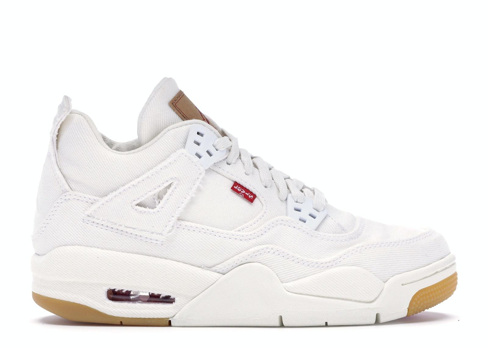 Jordan 4 Retro Levi's White (GS) (Levi's Tag)