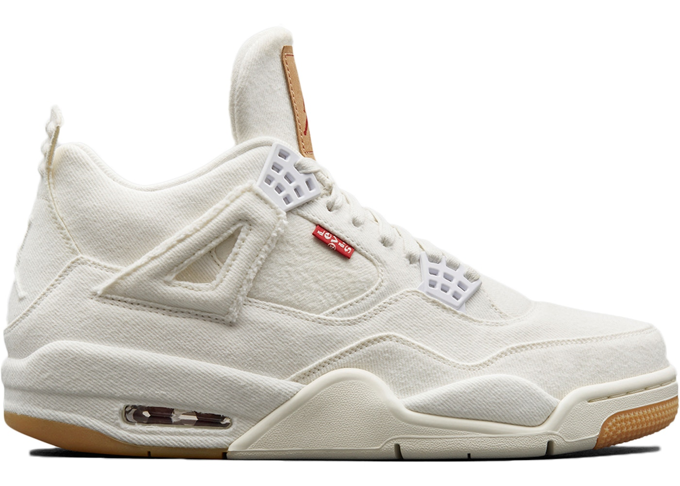 check out e1ef8 eddea Jordan 4 Retro Levi's White (Levi's Tag)