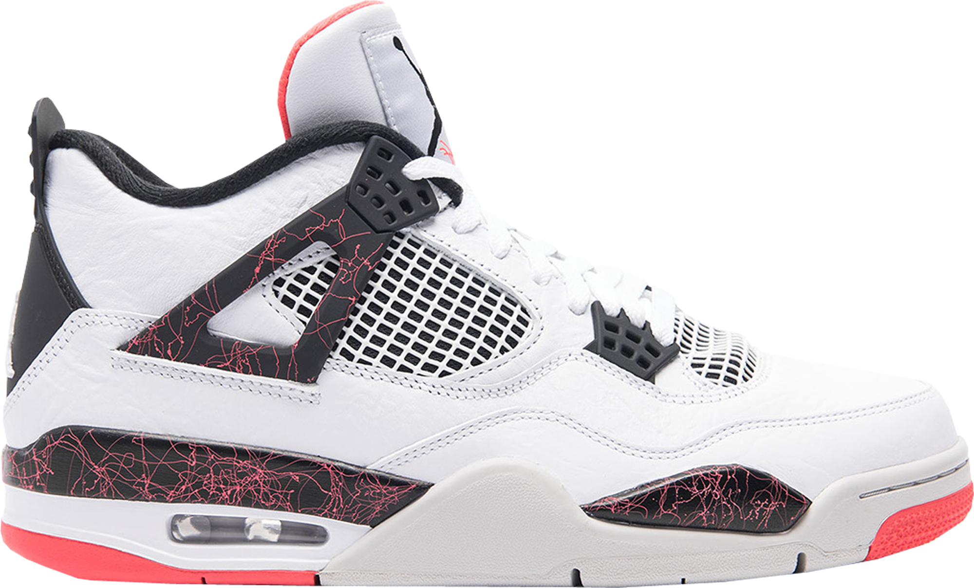 Jordan 4 Retro White Black Bright Crimson