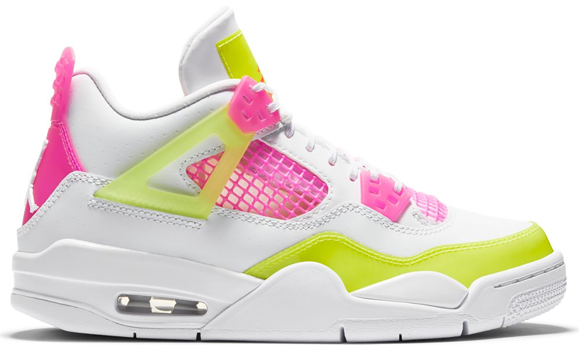 Jordan 4 Retro White Lemon Pink (GS
