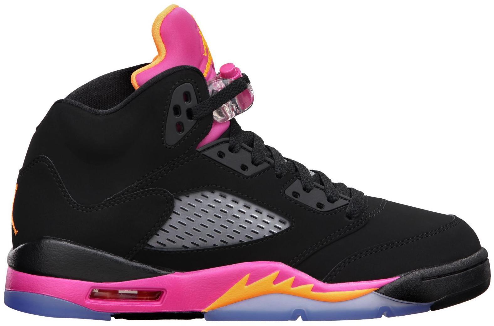 Jordan 5 Retro Black Pink (GS) - 440892-067