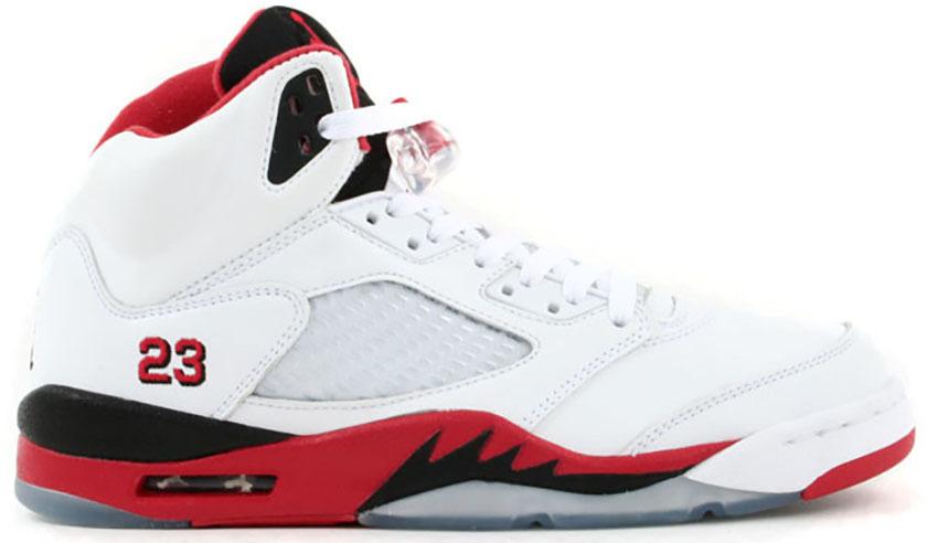 Air Jordan 5 Rouge Feu 2006 À Vendre