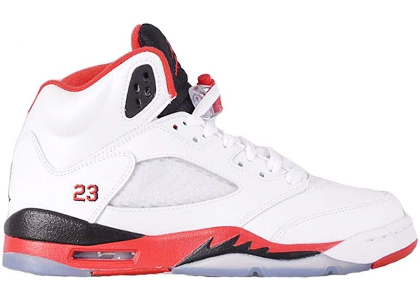 c8511662 Jordan 5 Retro Fire Red Black Tongue 2013 (GS) - 440888-120