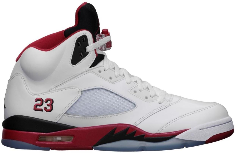 Jordan 5 Retro Fire Red Black Tongue (2013)