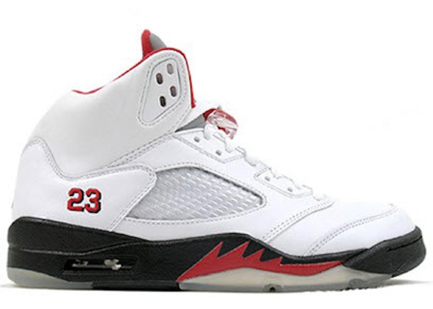 classic fit 6760d 42ba0 Jordan 5 Retro Fire Red CDP (2008) - 136027-163